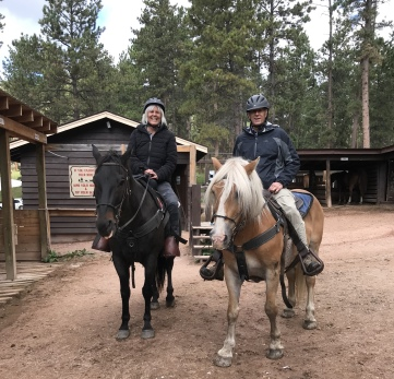 horsebackriding in Custer State Park, South Dakota