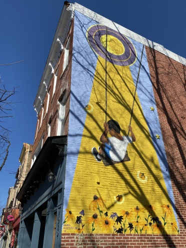 wall mural in Federal Hill, Baltimore