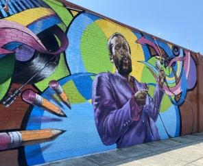 Marvin Gaye mural in D.C.
