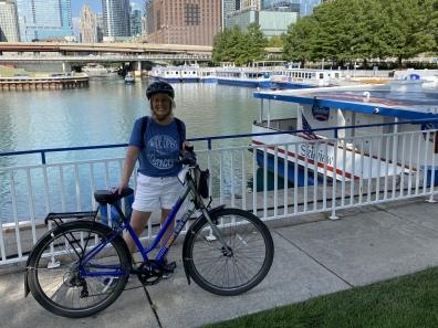 Biking along Lakeshore Drive