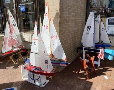 sailboats at Lake Anne