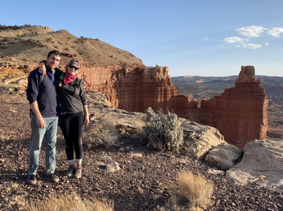 Alex & Ariana at Chimney Rock at Capitol Reef National Park