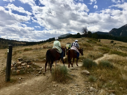 trail riders on the Flatirons Vista Trail