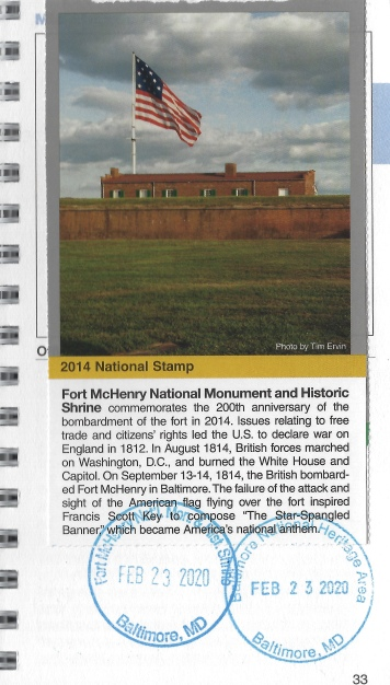 cancellation stamp for Fort McHenry
