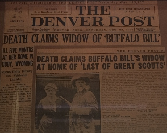 Death Claims Buffalo Bill's wife