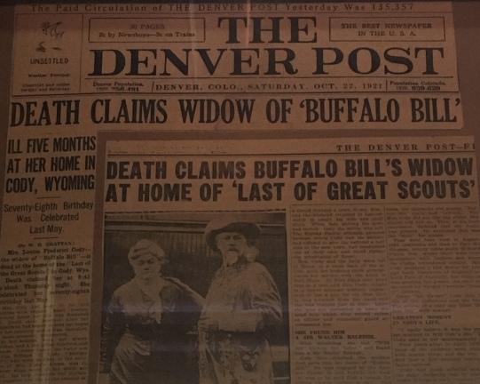 Death Claims Buffalo Bill's wife