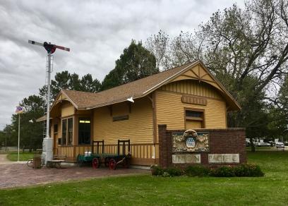 Hershey, NE rail depot