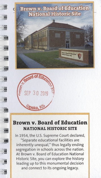 cancellation stamp for Brown v. Board of Education National Historic Site
