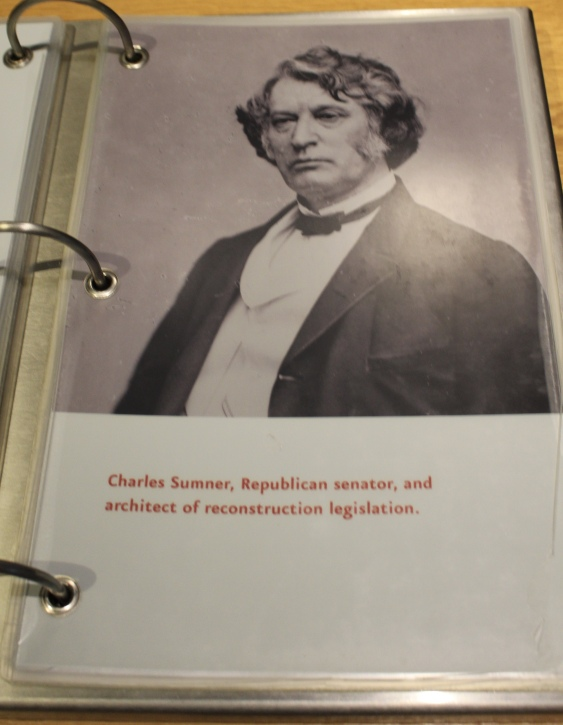 Charles Sumner, architect of reconstruction legislation