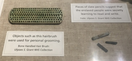 hairbrush and slate pencils