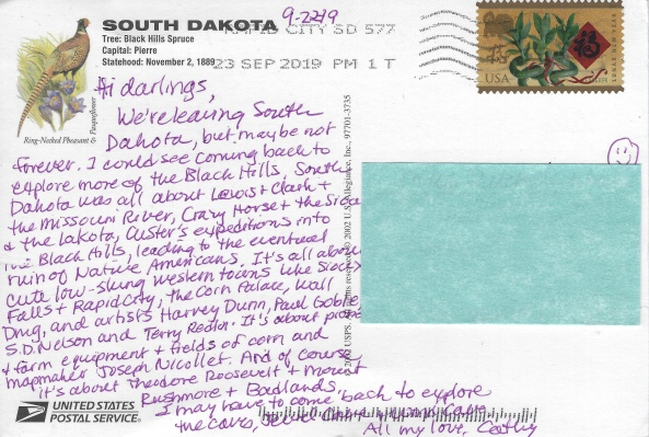 postcard from South Dakota