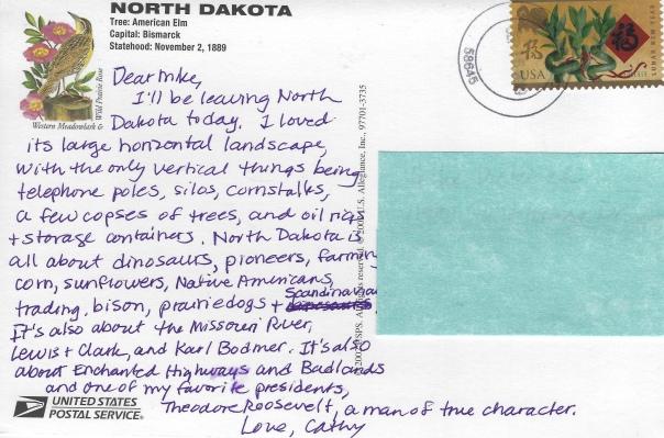 postcard from North Dakota