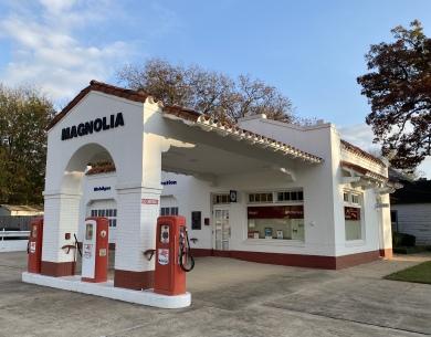 Magnolia gas station near Little Rock Central High School National Historic Site, Little Rock, Arkansas