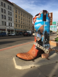 painted cowboy boots in Cheyenne, Wyoming