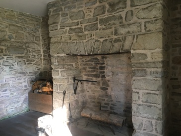 inside the winter kitchen, attached to the house