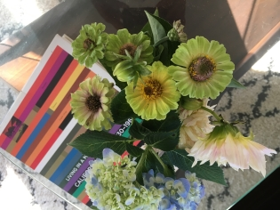 flowers from her garden