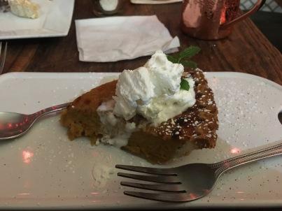 pumpkin pie at Global Gourmet