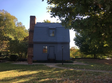 replica of Johnson's Raleigh birthplace