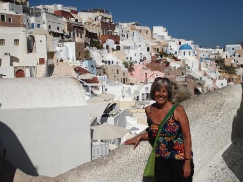 me in Oia, Santorini