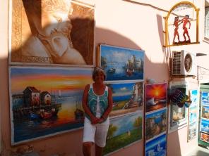 me in Fira, Santorini