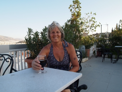 me on the terrace of Acropolis View Hotel