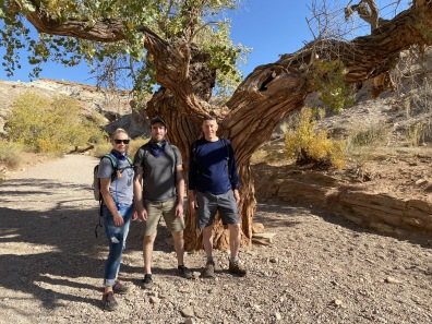 Ariana, Alex and Mike at Little Wild Horse Canyon in the San Rafael Swell
