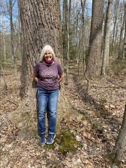 me along the gravel trail