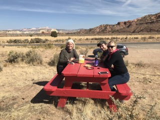 picnic on the way to Kodachrome Basin State Park