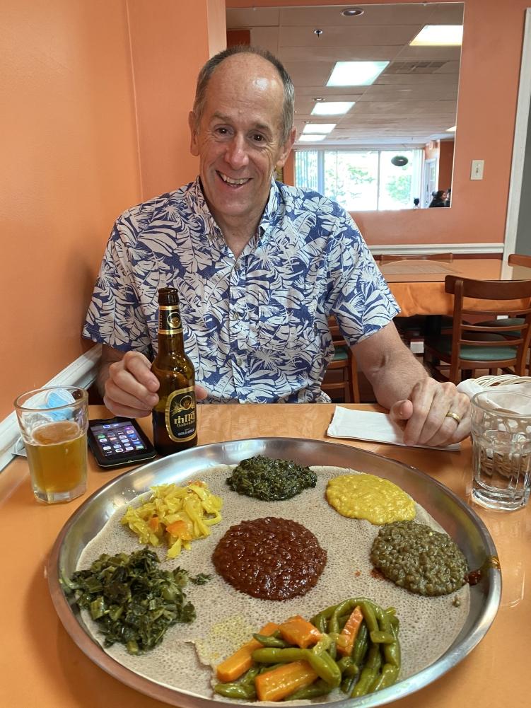 Mike at Enatye Ethiopian